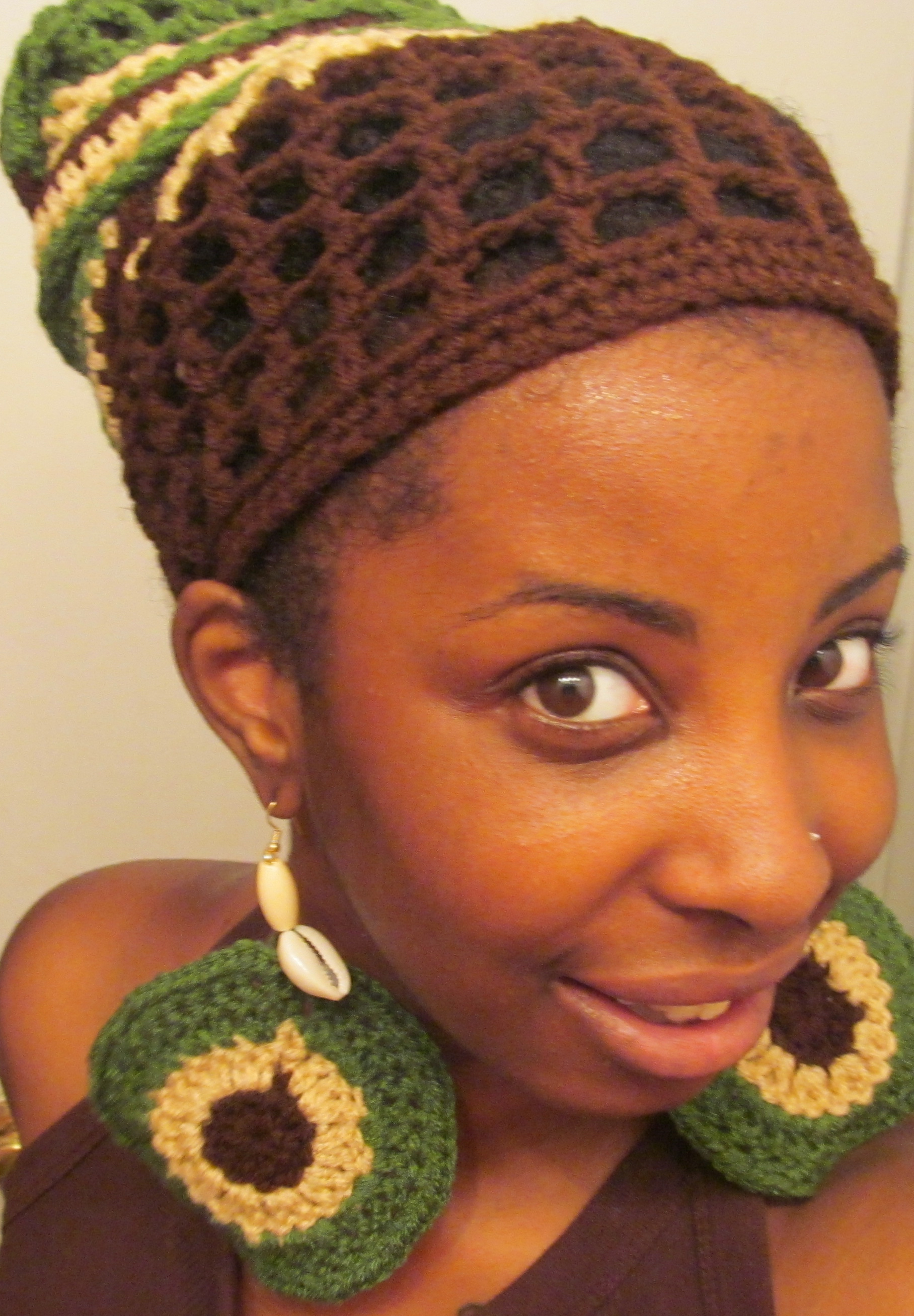 Crochet Hair Wrap : ... wrap in many ways! You can wear it as a wrap, turban, or just a hair